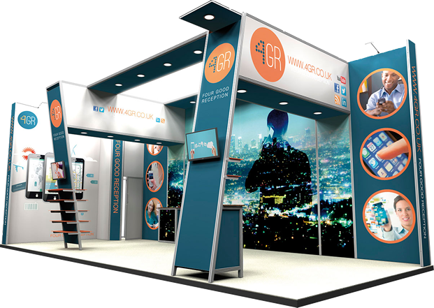 exhibition stand printed iq digital house