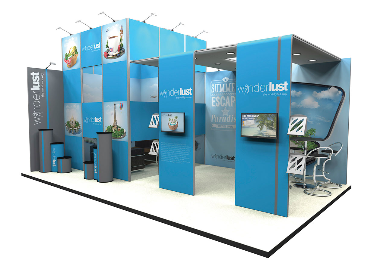 Fabric Exhibition Stand Vector : Stand d showstoppingstandsthisway